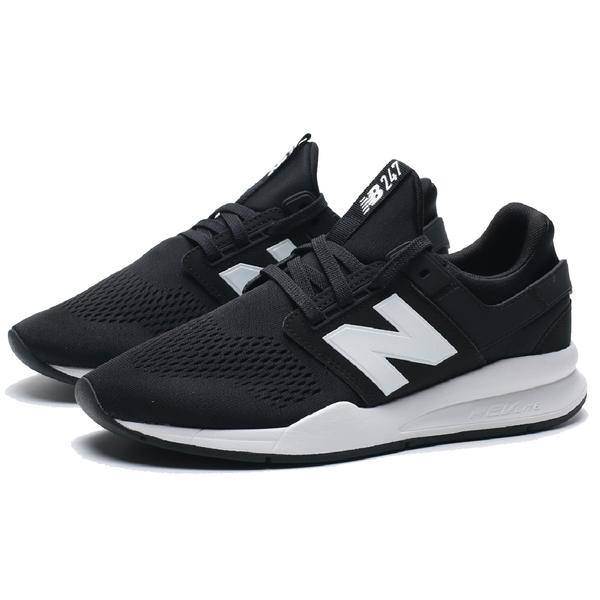 NEW BALANCE NB247 黑白 輕量 復古休閒 情侶鞋 慢跑 男女 (布魯克林)  MS247EB