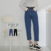 限量現貨◆PUFII-牛仔褲 男友風單釦牛仔直筒褲(附皮帶)-0910 現+預 秋【CP19086】