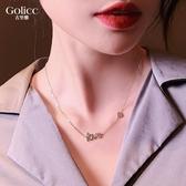 項鍊 設計師款彩鉆LOVE桃心精致鎖骨鍊新款小眾品牌飾品女 - 歐美韓熱銷