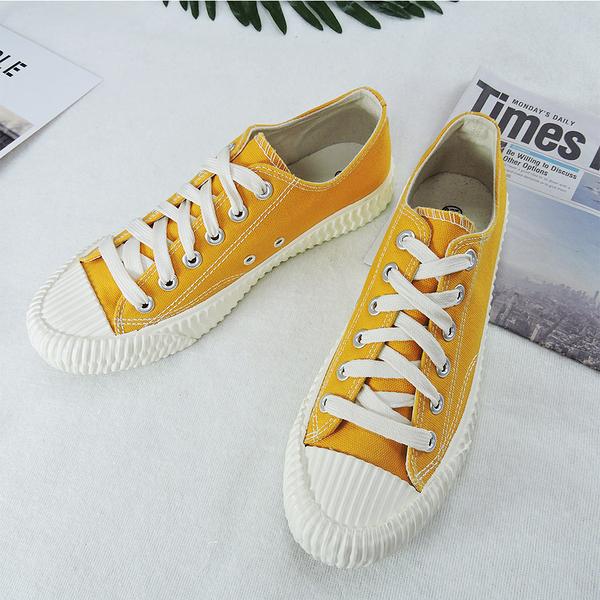 X-INGCHI 男款黃色帆布餅乾鞋-NO.x0022