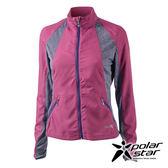 PolarStar 女 UV CUT抗風外套『紫紅』P17110 防曬外套休閒外套吸濕排汗外套登山健走路跑外套