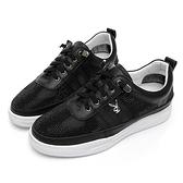 PLAYBOY璀璨星鑽 真皮綁帶休閒鞋-黑(Y6256)