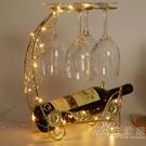 創意紅酒杯架懸掛倒掛酒架家用紅酒架擺件高腳葡萄酒酒瓶架子掛架 小時光生活館