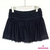 【SHOWCASE】甜美蕾絲百褶短褲裙(黑)