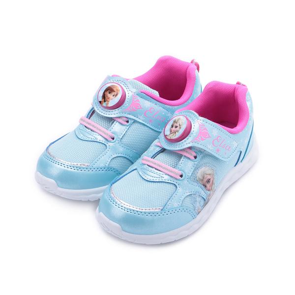 冰雪奇緣 不對稱造型電燈鞋 水藍 FOKX94486 中大童鞋 鞋全家福
