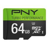 【隔日出貨】PNY 必恩威 64G 4K Micro SD 記憶卡 小卡附轉卡
