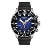 ◆TISSOT◆新上市  熱賣款 SEASTAR 1000 海星潛水計時碼表 T120.417.17.041.00 黑色膠帶