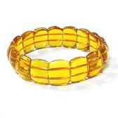 黃水晶手排彈性手環