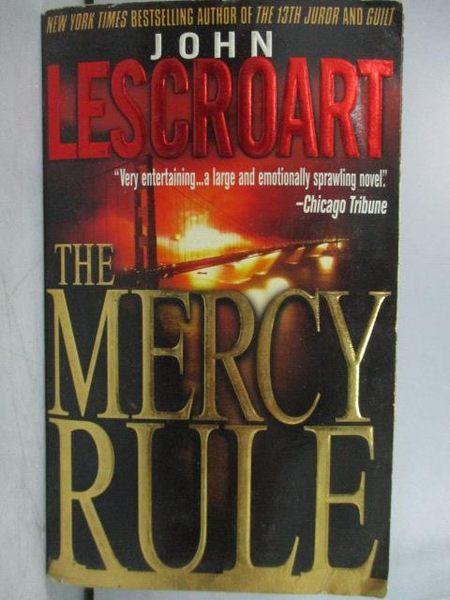 【書寶二手書T6/原文小說_LAZ】The Mercy Rule_John Lescroart