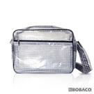 【反光條透明網格側背包-白 SE-511BK】高科技產業 斜背包 肩背包 工具包 工作包 抗靜電無塵室包