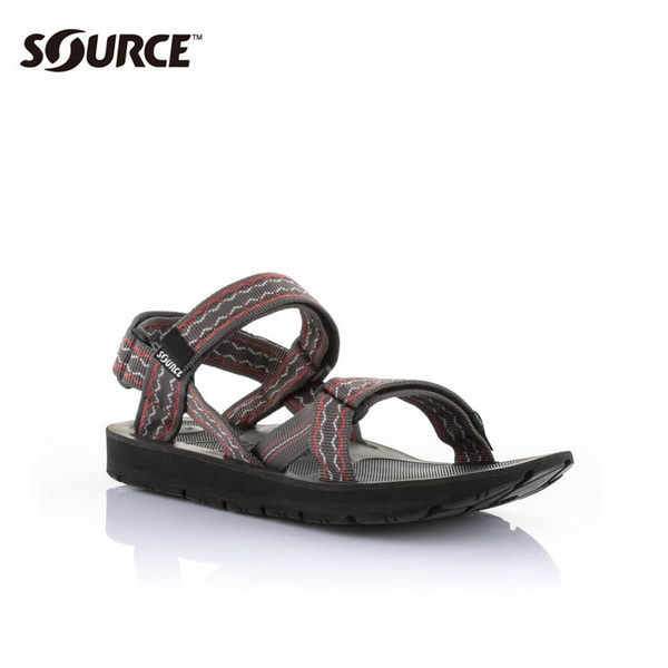 SOURCE 男越野運動涼鞋Stream101021RR【咖啡紅】 / 城市綠洲(織帶、輕量、快乾、抑菌)