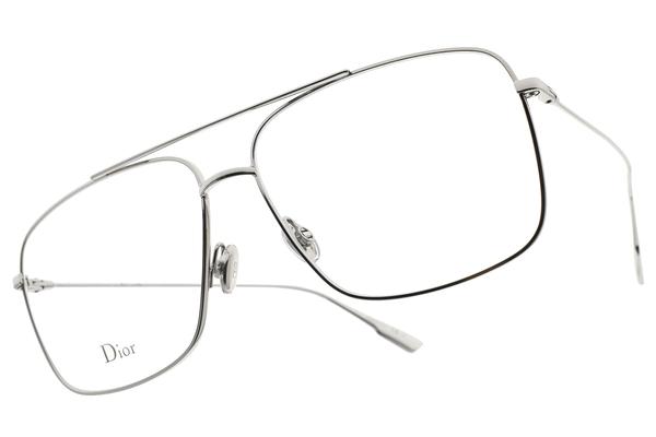 Dior 光學眼鏡 STELLAIRE O3 010 (銀) 時尚造型飛官款 平光鏡框# 金橘眼鏡
