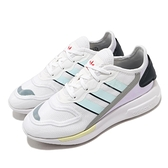 adidas 休閒鞋 ZX 2K Florine W 白 紫 粉色系 女鞋 三葉草 運動鞋 【ACS】 FW0090