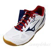 MIZUNO 美津濃 (男女) SKY BLASTER  排球鞋 羽球鞋 71GA194512 白藍 [陽光樂活=]