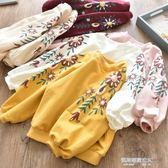 女童衛衣 童裝女童衛衣秋裝新款韓版兒童套頭衫中小童寶寶圓領長袖上衣  凱斯盾數位3c