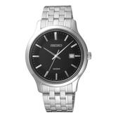 SEIKO夏日點點時尚型男腕錶-銀X黑