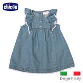chicco-綻放荷葉袖牛仔洋裝