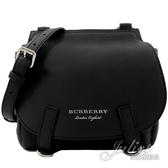 茱麗葉精品【全新現貨】BURBERRY 40553011 The Bridle 鹿皮穿釦肩斜包.黑