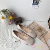 單鞋可愛娃娃鞋顯瘦一字扣平底圓頭小皮鞋女【聚可愛】