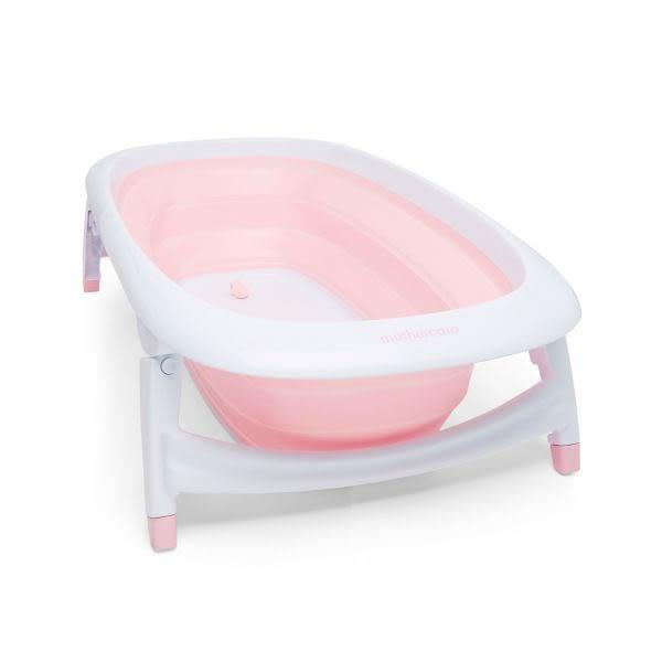 mothercare 粉藍摺疊浴盆-粉、藍色