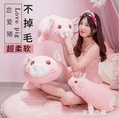 可愛豬公仔小豬毛絨玩具女生布娃娃睡覺抱枕玩偶女孩懶人超萌禮物QM『艾麗花園』