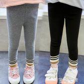 女童加絨打底褲秋冬外穿新款冬裝褲子小女孩長褲韓版洋氣海角七號