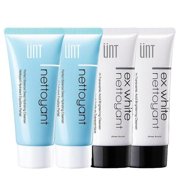 【UNT】保濕美白清潔組(傳明酸潔顏霜100ml*2+氨基酸潔顏霜100ml*2)