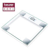 【德國博依beurer】典雅方形玻璃體重計 GS14