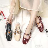 新款涼鞋女仙女風包頭學生百搭平底瑪麗珍單鞋ins潮 伊莎公主
