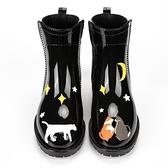中筒防水防滑雨鞋女時尚韓版可愛雨靴膠鞋套鞋【雲木雜貨】