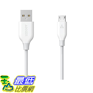 [106美國直購] Anker PowerLine Micro USB Charging Cable 6ft for Android Smartphones Samsung 充電線 傳輸線
