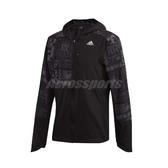 adidas 外套 Own the Run Reflective Jacket 黑 灰 男款 連帽 反光 運動休閒 【ACS】 FS9811