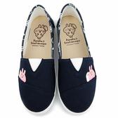 童鞋城堡-卡娜赫拉 女款 花紋刺繡帆布休閒鞋KI8350-藍