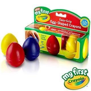 美國 Crayola 繪兒樂 幼兒可水洗3色蛋形蠟筆