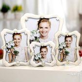 相框擺臺創意歐式小奢華6寸7寸10寸加沖印照片婚紗照相架臥室桌擺【新年交換禮物降價】