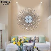 歐式藝術鐘錶個性掛鐘時鐘客廳圓形現代創意靜音臥室裝飾牆壁掛錶igo 晴天時尚館