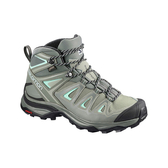 [Salomon] (女) X ULTRA 3 GTX 中筒登山鞋 倒影黑/凱斯灰/玻璃藍 (L40134600)