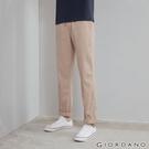 【GIORDANO】男裝素色抽繩休閒長褲-48 卡其