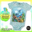 【摩達客】(預購)美國進口The Mountain 海洋世界 精梳純棉嬰幼兒短袖包屁衣
