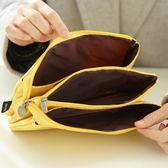 創意學生三層大容量拉?筆袋簡約帆布
