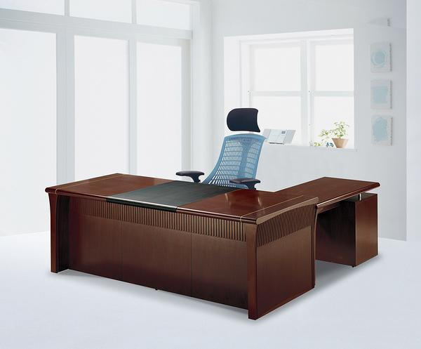 【 IS空間美學】8891-7尺主管桌整組(L型/胡桃木色)
