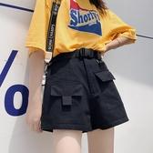 闊腿褲子女夏中褲bf寬鬆韓版直筒高腰顯瘦運動五分工裝短褲潮ins