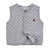 男Baby男童裝鋪棉背心灰色星星印花純棉背心現貨 歐美品質