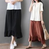 大碼半身裙胖妹妹洋氣寬鬆減齡時尚百搭中長款裙子女2020春裝新款 快速出貨