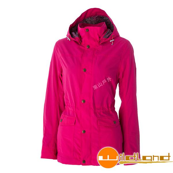 Wildland 荒野 0A52903-09桃紅 女Pile裡防風時尚保暖外套 保暖夾克/防風外套/輕量外套/爬山健行