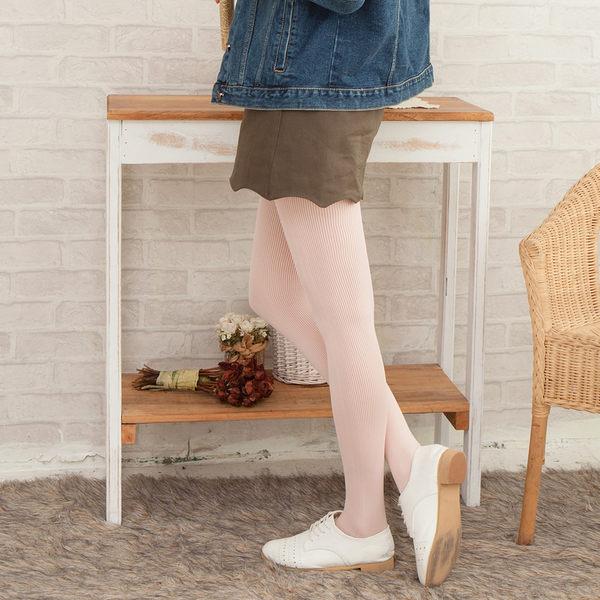 80D一體式無縫提臀立體條紋啞光褲襪 (嬰兒粉)
