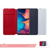Samsung三星 原廠Galaxy A20專用 皮革翻頁式皮套【盒裝公司貨】