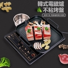 現貨電磁爐烤盤韓式麥飯石烤盤家用不粘無煙烤肉鍋商用鐵板燒燒烤盤子