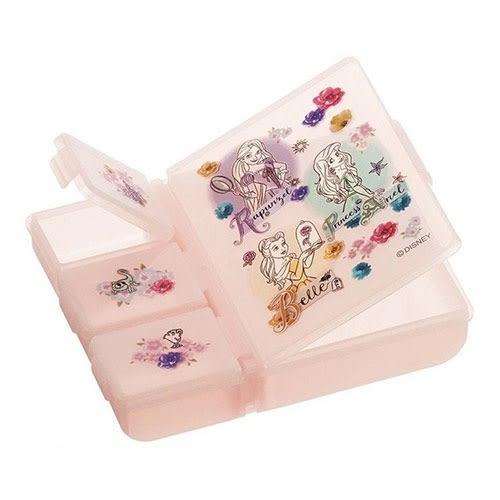 DISNEY 迪士尼公主日本製小物收納盒-四外分格式(集合粉)★funbox★SKATER_AT37998
