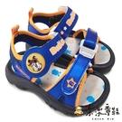 【樂樂童鞋】台灣製巴布豆電燈涼鞋-藍色 C085 - 男童鞋 女童鞋 涼鞋 電燈鞋 現貨 小童鞋 兒童涼鞋